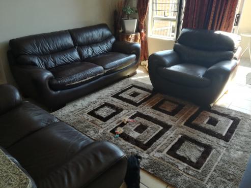 Brown 3 pieces lounge suit