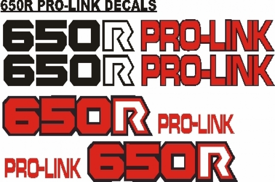 Pair off XR 650L swing arm decals graphics