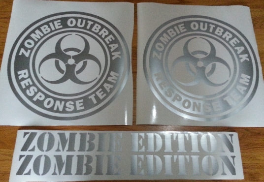 Mulisha, punisher, zombie responce decals stickers graphics