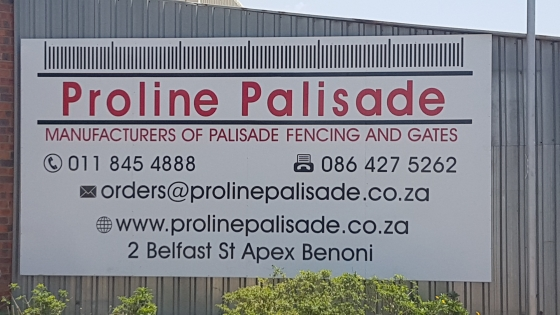 Steel palisade fencing and sliding gates in Gauteng