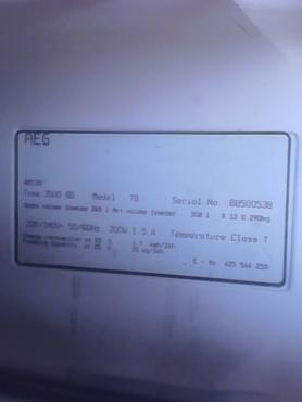 Freezer, 345L AEG model