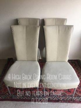 4 Highback diningroom chairs