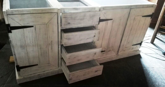 Kitchen Cupboard Base unit Farmhouse series 2100 Chalk paint distressed