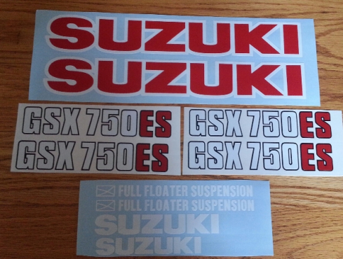 1983 Suzuki GSX 750ES graphics stickers decals kits