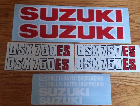 1983 Suzuki GSX 750ES graphics stickers decals kits