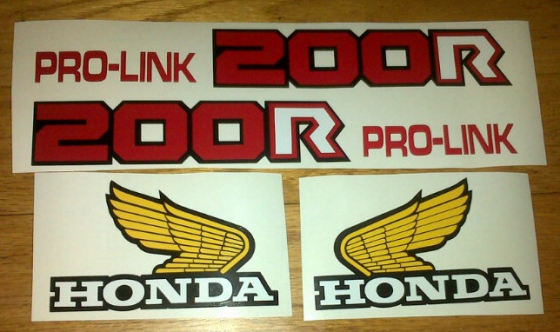 1984 XR 200R graphics stickers decals kits