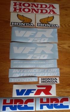Honda VFR 750R graphics kit - RC24 model