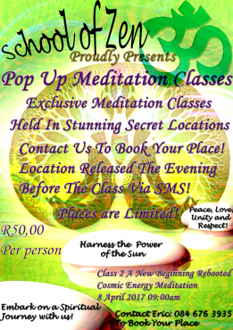 Pop Up Meditation Classes