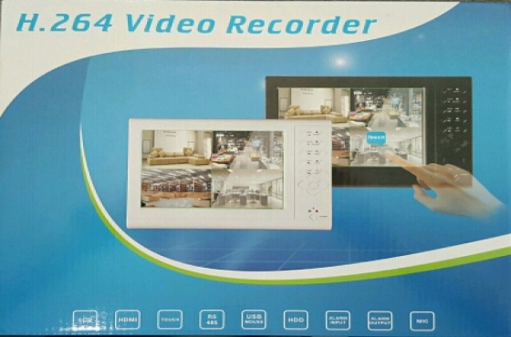 CCTV 4CH DVR 7 Touch LCD Compact Internet NEW