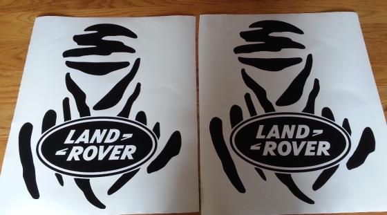 Pair off Land Rover Dakar door decals graphics