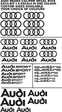 Audi graphics decals - Latest designs