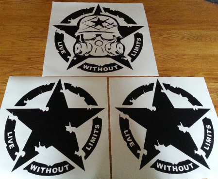 Mulisha Punisher zombie outbreak call of duty vehicle decals stickers graphics