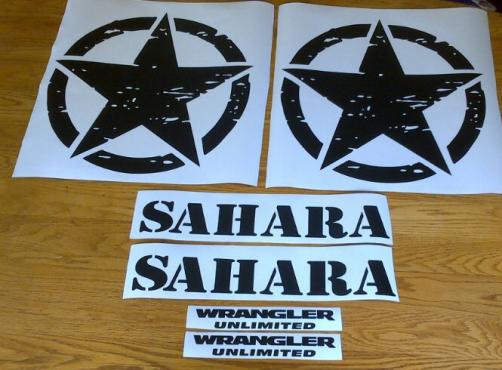 Sahara Jeep graphics decal kits