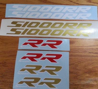 S1000 RR and HP4 sponsor logo decals stickers graphics kits