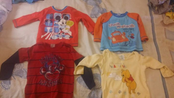 baby clothes and bedding