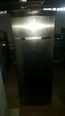 Large silver fridge for sale