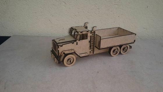 Mini wooden truck
