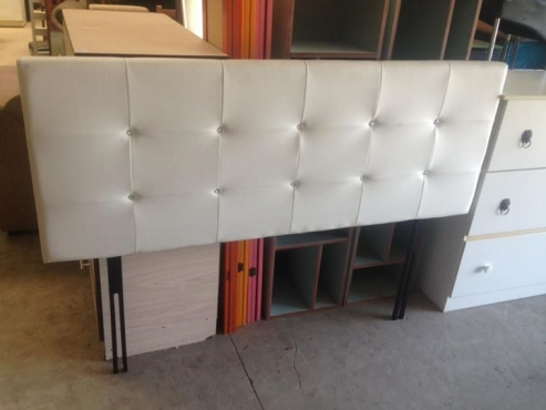 white double/queen headboard