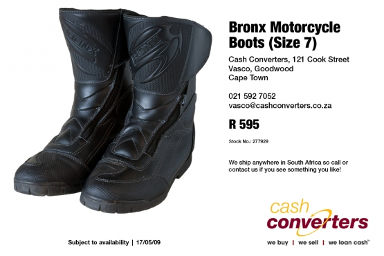 Bronx Motorcycle Boots (Size 7)