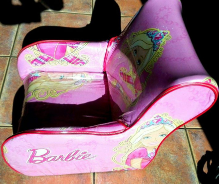 Girls Barbie chair