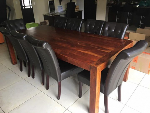 Dining Room Table And 9 Chairs