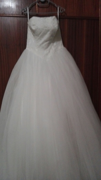 White ball gown
