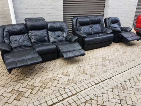 ALPINE 6 SEATER GENUINE LEATHER RECLINER SET! 15500