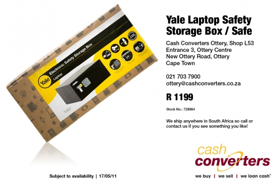 Yale Laptop safety storage box/safe for sale