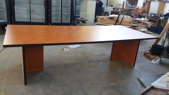 Cherry-wood board room table(12-15 seaters) Good condition, neat and good looking.