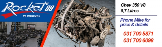Chevy V8 engines in stock.!!