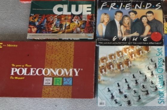 Boardgames and model airplanes for sale
