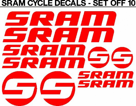SRAM frame and rim decals stickers graphics kits