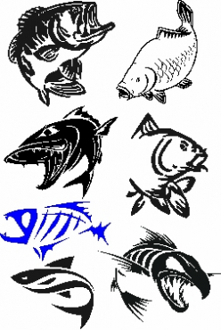 Boat / fishing sponsor decals stickers graphics