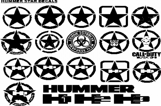 Hummer H3 decals stickers graphics