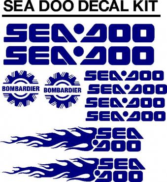 Seadoo PWC jetski decals stickers graphics kits
