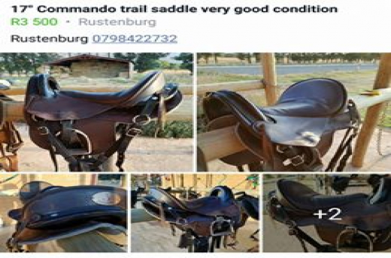 Trail saddle very good condition. Commando 17 inch fully fitted