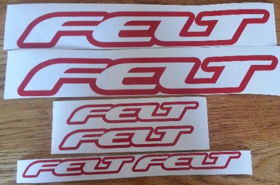 FELT frame decals stickers graphics