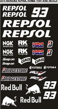 Honda Repsol graphics decals stickers sets
