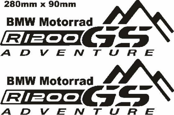 BMW GS Pannier decals stickers graphics