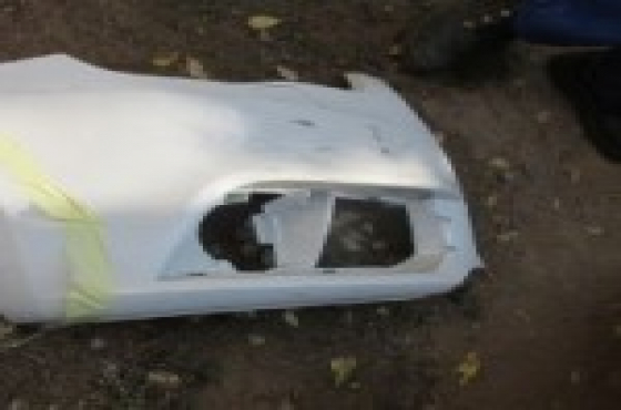 2013 Audi A1 Right Front Bumper Piece White For Sale.