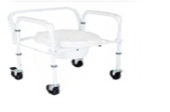 FOLDABLE COMMODE WITH WHEELS