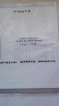 toyota land cruiser fj40 and fj43: electrical wiring diagram