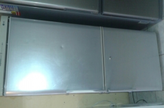 LG silver fridge freezer for sale
