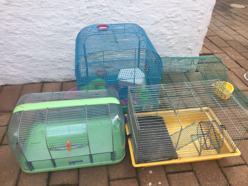 3 hamster cages for R400