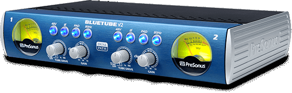 PRESONUS BLUETUBE DP V2  STEREO DUAL PATH MICROPHONE/INSTRUMENT TUBE PREAMP