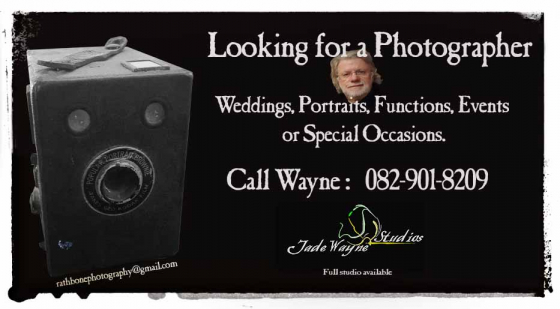 Photographer available for functions , weddings etc.