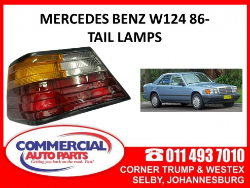 Mercedes Benz W124 86- Tail lamps for sale