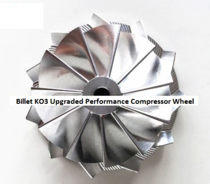 KO3 Upgraded Billet Compressor Wheel for VW / Audi - KO3 Turbos - Add horsepower and torque