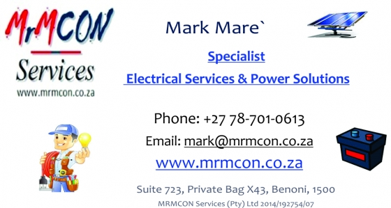 BENONI Electrical Services - New, Repairs, Fault Finding, Lighting