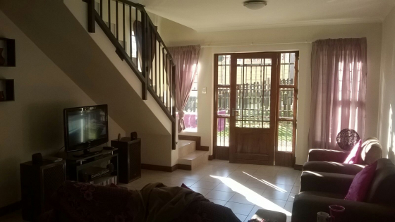 3 Bedroom Duplex in tranquil secure complex
